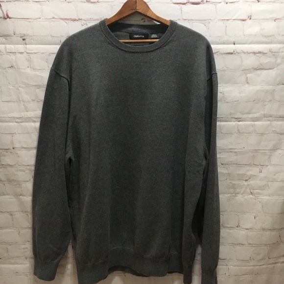 Claiborne Other - Men's gray cotton blend crew neck sweater 2XL Tall